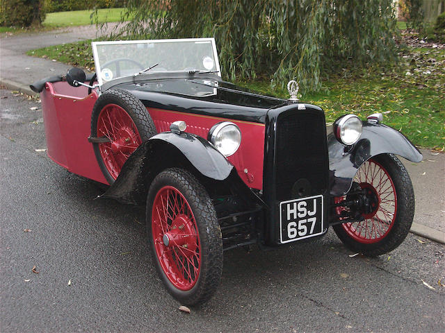 1934 BSA 9hp Scout Three-Wheeler  Chassis no. F6797D Engine no. 1761