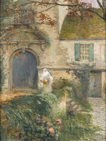 Henri Le Sidaner (French, 1862-1939) Jardin de la maison de Mouy, Nemours