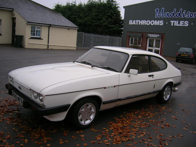 1986 Ford Capri MkIII 2.8i Coupé  Chassis no. WFOCXXGAECF502336 Engine no. FJ02336
