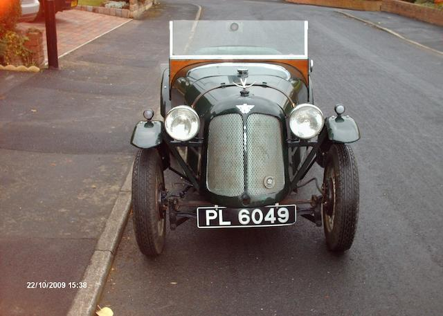 1931 Austin Seven Swallow Tourer  Chassis no. B33403 Engine no. M130622