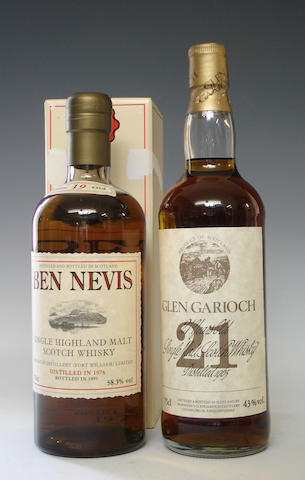 Ben Nevis-19 year old-1976  Glen Garioch-21 year old-1965