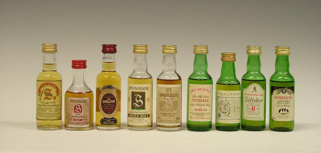 Miniatures comprising: