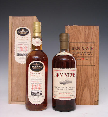 Glengoyne Vintage Reserve-25 year old-1968Ben Nevis-21 year old-1972