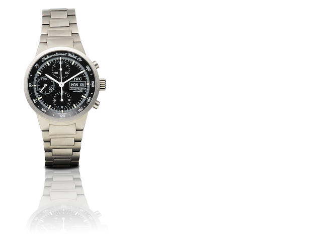 IWC. A fine titanium automatic chronograph with calendar wristwatch GST Chrono, Ref: 3707, Case No. 2655500, Circa 2000