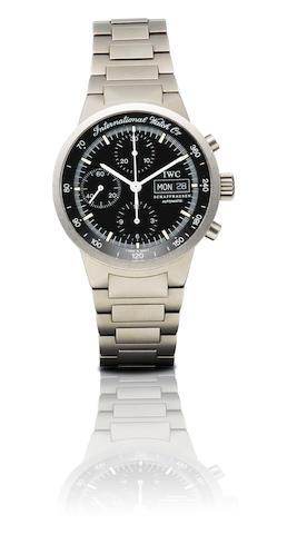 IWC. A fine titanium automatic chronograph with calendar wristwatch GST Chrono, Ref: 3707, Case No. 2655500, Circa 2000