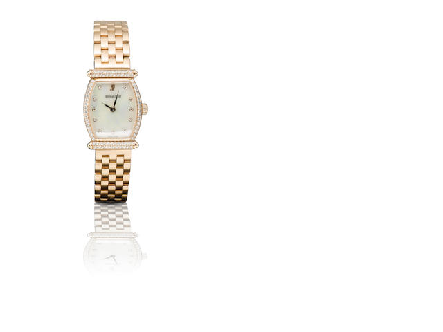 Audemars Piguet. A fine 18ct rose gold and diamond manual wind ladies wristwatch Carnegie, Case No. D70518, Circa 1980s