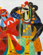 Lin Fengmian (1900-1991) Chinese Opera Series-Stealing the Royal Horse