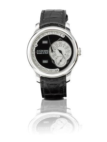 F.P.Journe. A fine and rare platinum automatic retrograde annual calendar wristwatch with calendar Octa- Calendrier, Ref: 523-Q, Case No.137, Circa 2007