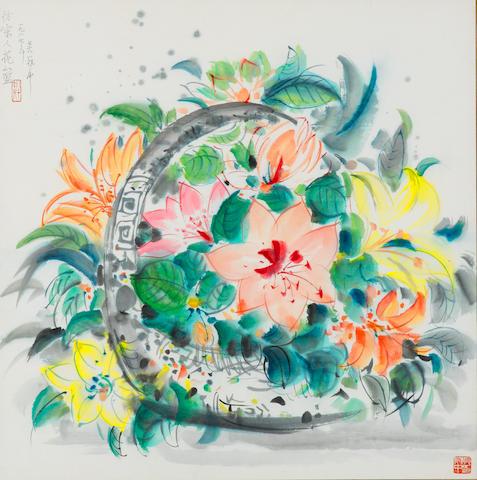 Wu Guanzhong (b. 1919)  Flower Basket