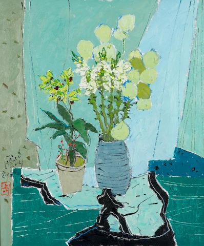 Pang Jun (Pang Jiun, b. 1936) Green Combination