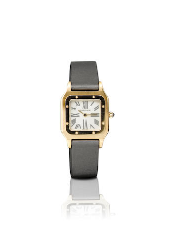 Cartier. A fine 18ct pink gold manual wind limited edition ladies wristwatch Santos-Dumonr, Mecaniqe, Ref: 1577, Limited Edition No. 22/50, Circa 2004