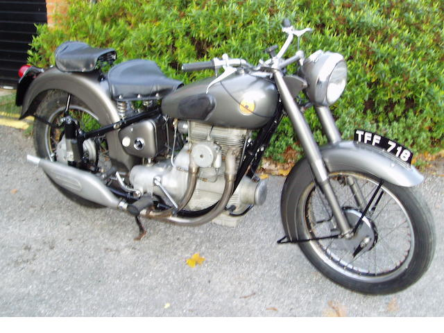 c.1952 Sunbeam 489cc S8 Frame no. S8 5659 Engine no. S8 8341