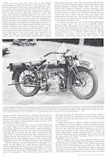 1924 Cedos 348cc Motorcycle Combination Frame no. 1754 Engine no. 1754