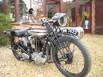 c.1925 Norton 490cc 'Model 18' Motorcycle Combination Frame no. 18764 Engine no. 5166