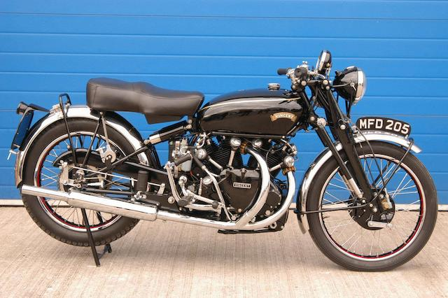 1951 Vincent 998cc Black Shadow Frame no. RC10054B/E Engine no. F10AB/1/8154