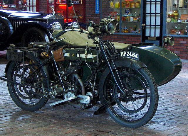 1914 BSA 557cc Model K Motorcycle Combination with BSA No.2 Sidecar Frame no. 10902 Engine no. 7397 (see text)