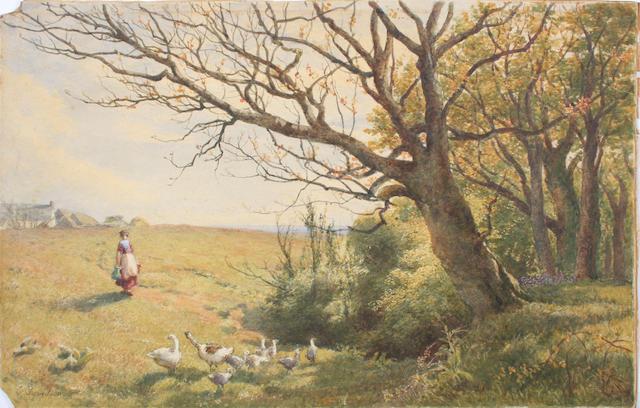 Charles Davidson (British, 1824-1902) 30 x 46.5cm Unframed