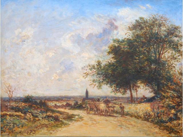 Johan Barthold Jongkind (Dutch, 1819-1891) A pastoral landscape