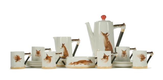 Doulton Series Ware A Royal Doulton 'Reynard the fox' coffee service