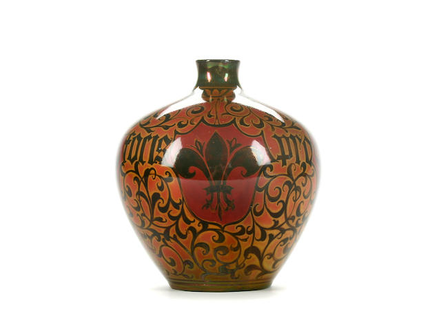 A Pilkingtons Royal Lancastrian vase by William S. Mycock Circa 1910