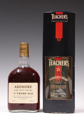Ardmore-15 year old  Teacher's Highland Cream-18 year old