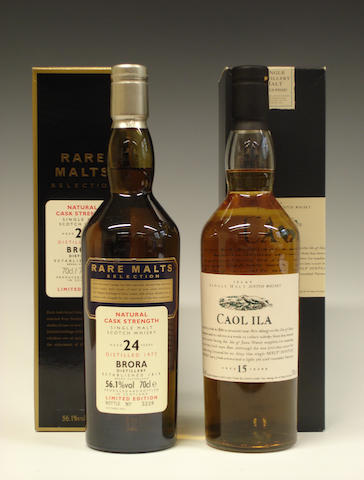 Brora-24 year old-1977  Caol Ila-15 year old
