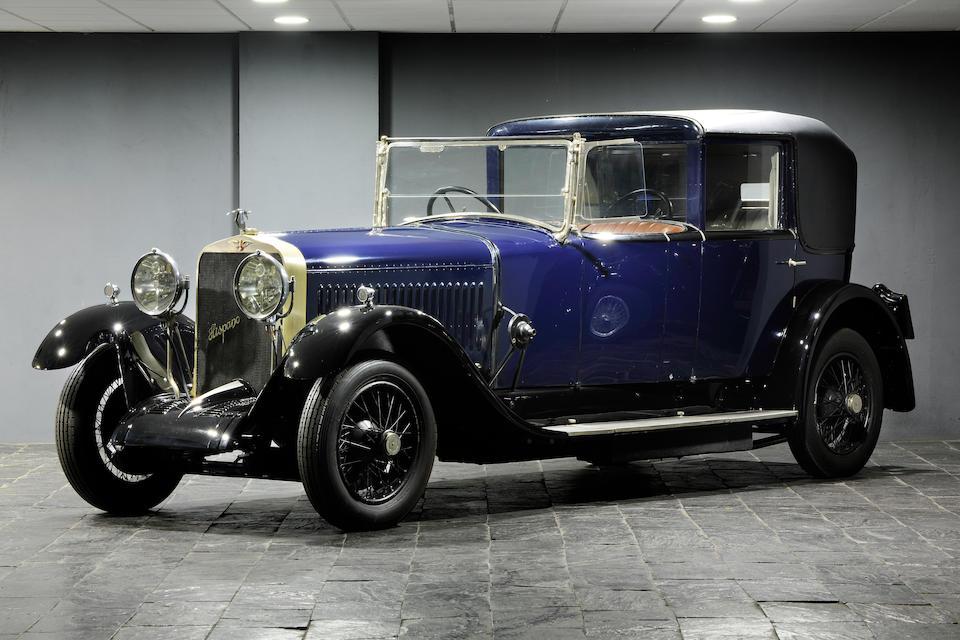 1925 Hispano-Suiza H6B coupé-chauffeur Kellner, Chassis no. 11153