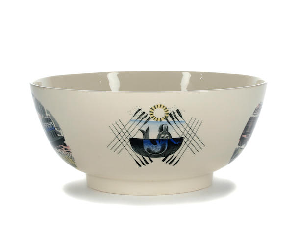 An Eric Ravilious for Wedgwood Boat Race bowl Circa 1975