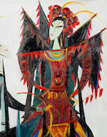 Lin Fengmian (1900-1991) Chinese Opera Series:Female Warrior of the Yangs