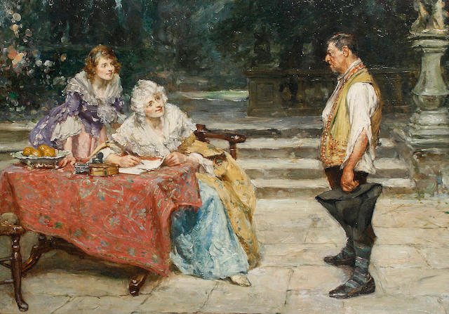 Arthur David McCormick, RI (British, 1860-1943) A letter of recommendation