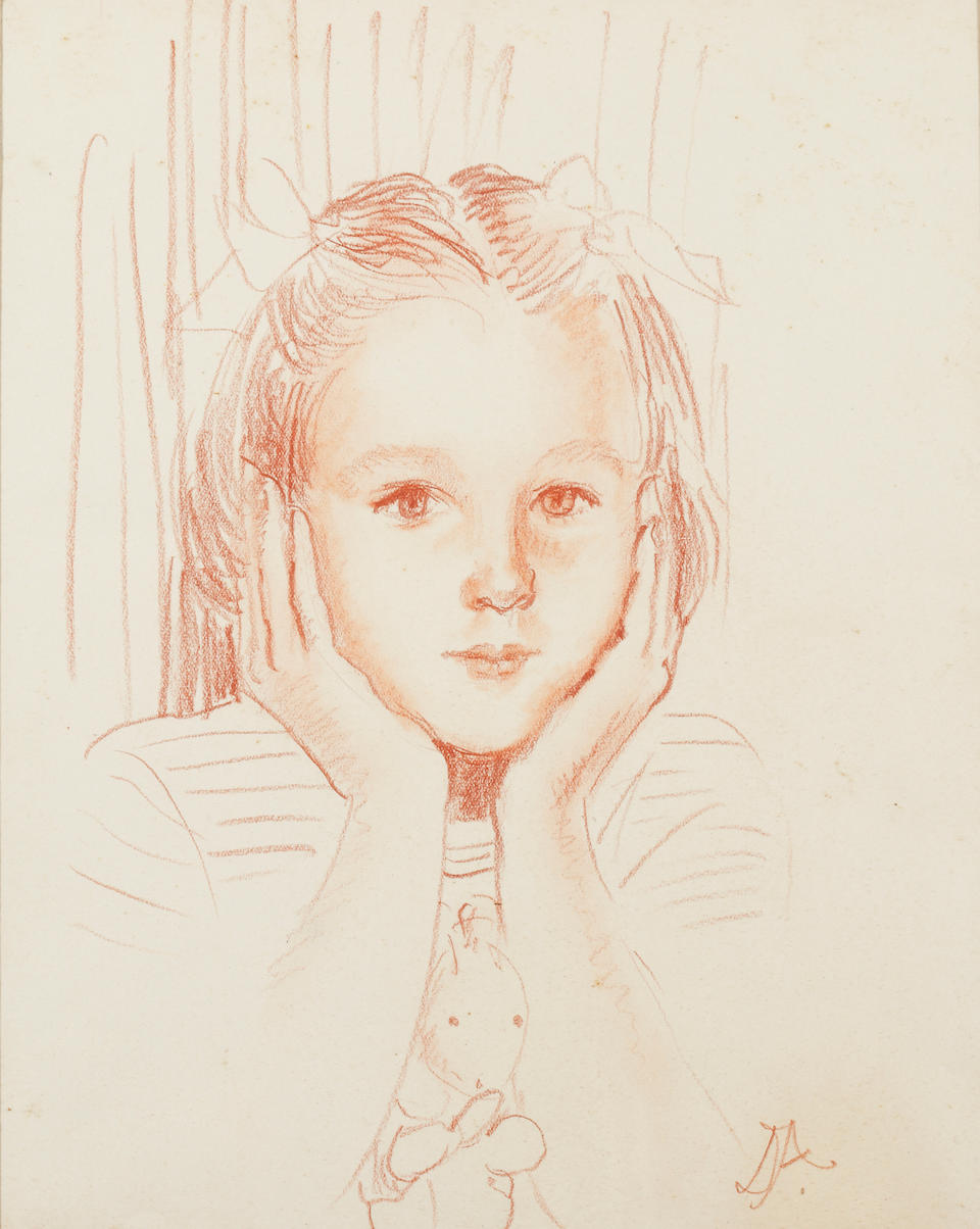 Lady Diane Abdy (20th Century) Portrait of Rose Adeane at four years old, another at eight and a half years old, and another of James Adeane