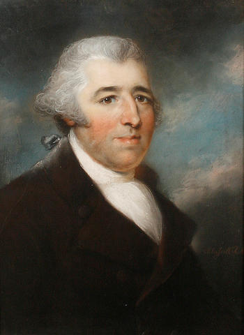 John Russell, RA (British, 1745-1806) Portrait of Mr Howarth