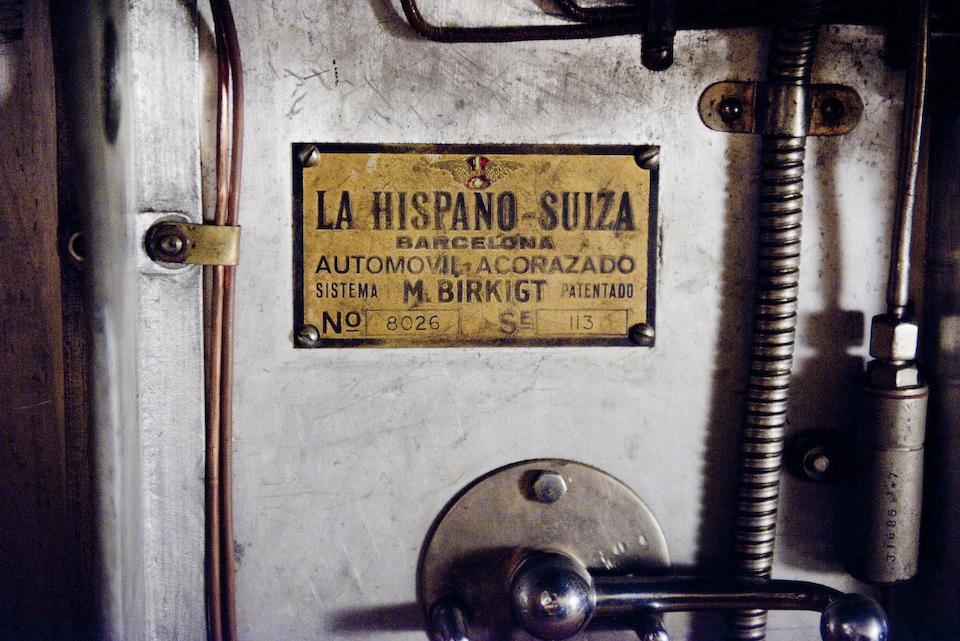 No reserve, 1922 Hispano-Suiza T49 berline souple  Chassis no. 8026