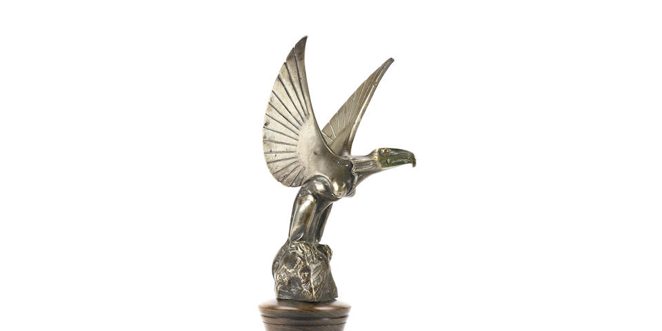 A good 'Chimere' mascot by Bourcart, French, 1920s,
