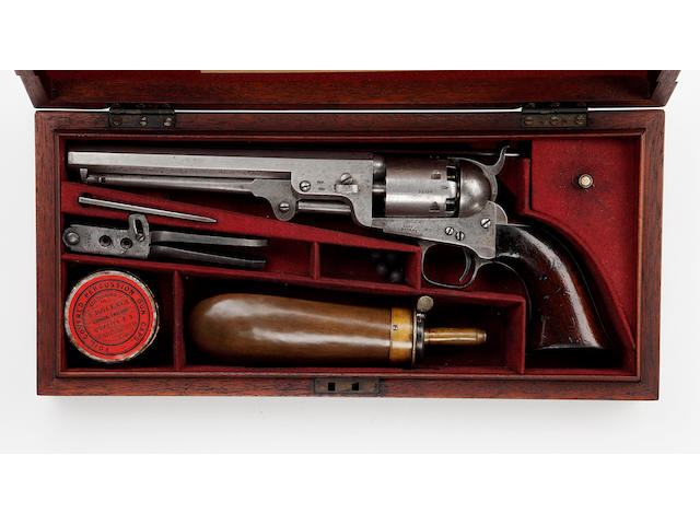 A Six-Shot Percussion Colt Navy Revolver