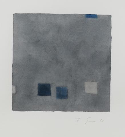 Felim Egan (Irish, born 1952) Blue movement; Grey movement each 35.5 x 36 cm. (14 x 14 1/4 in.)