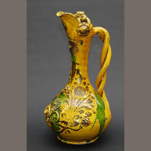 A Chinese glazed stoneware ewer, 19th Century