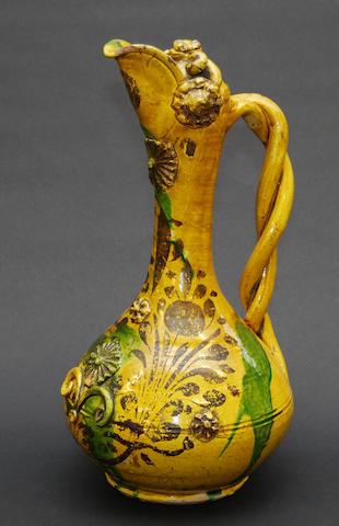 A Chinese glazed stoneware ewer, 19th Century