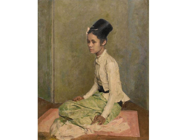 Sir Gerald Festus Kelly (British, 1879-1972) Sao Ohn Nyunt XVI 67.5 x 55 cm. (26 1/2 x 21 3/4 in.)