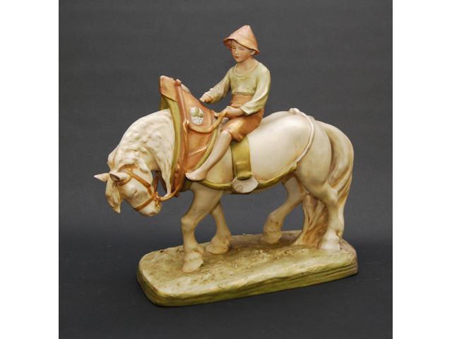 A Royal Dux figure
