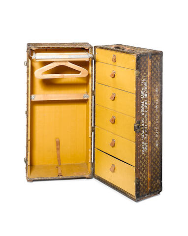 A Louis Vuitton wardrobe trunk,