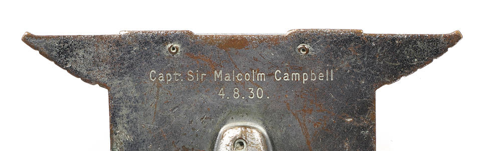 Captain Sir Malcolm Campbell's BARC Brooklands 120mph badge,