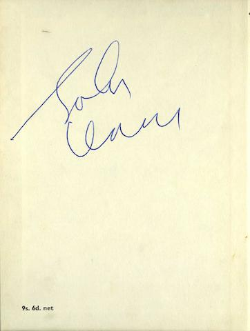 An autographed copy of 'In His Own Write' by John Lennon, second reprint, April 1964,