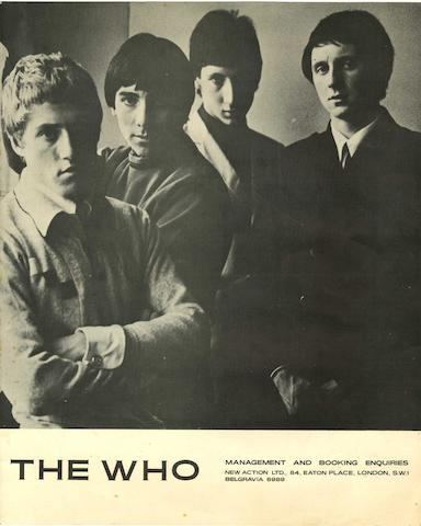 An autographed publicity photograph of the Who, mid 1960s,