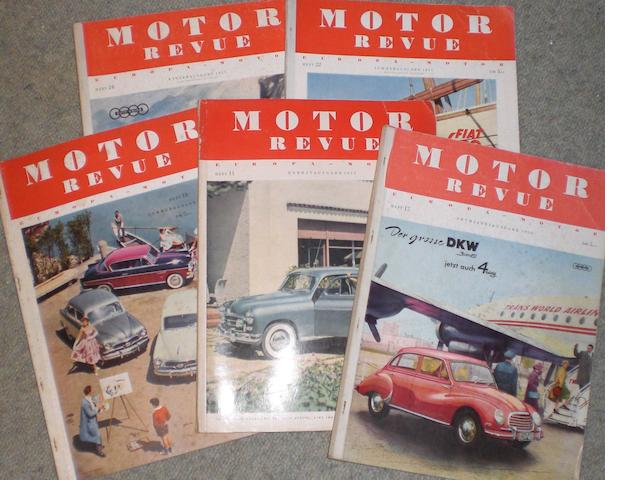 Motor Revue; assorted loose issues,