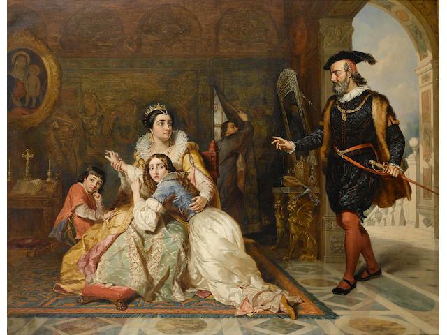 Charles Robert Leslie, RA (American/British, 1794-1859) The Admonishment of Beatrice Cenci