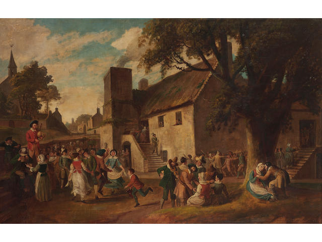 Attributed to Alexander Carse (British, circa 1770-1843) A village fair