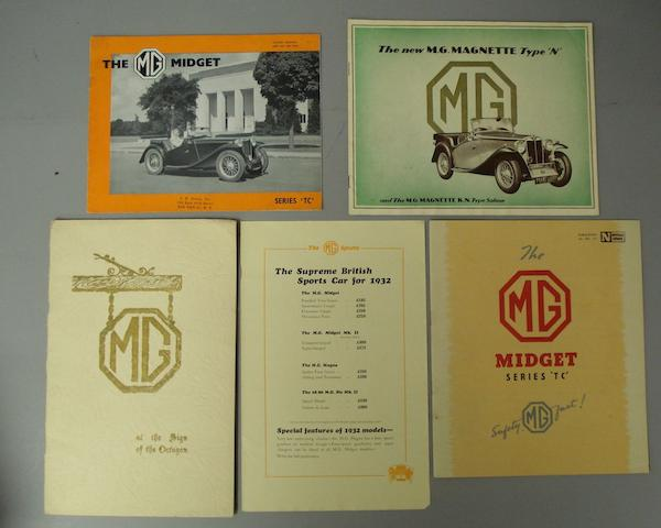 A scarce MG 'at the Sign of the Octagon' sales booklet, 1932,
