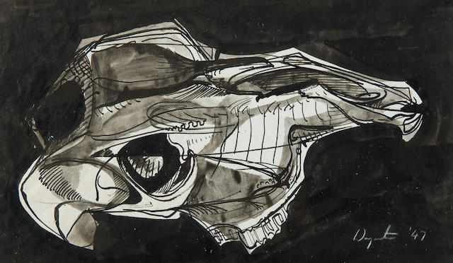 Bryan Wynter (British, 1915-1975) Sheep's skull