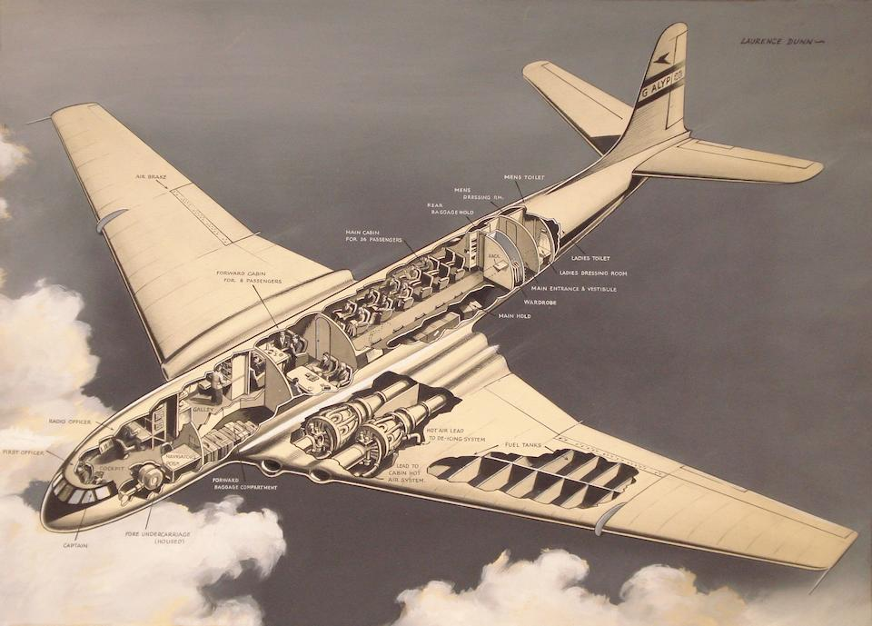 A collection of original aeronautical artworks, commissioned for the Illustrated London News,